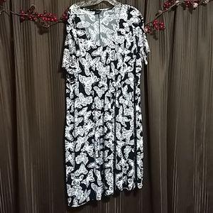 Black & White Butterfly dress
